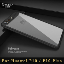 huawei p10 case Original ipaky Brand Silm design huawei p10 plus transparent phone cover + Silicone Frame For huawei p 10 cases(China)