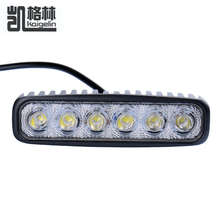 1pcs 18W LED Work Drive Light Fog Driving Lamp Bar Flood  Beam Offroad  12- 24V  For ATV Boating Hunting Truck Tractor