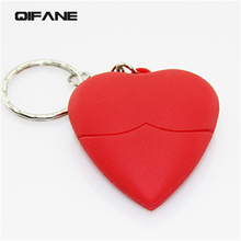QIFANE 64GB Creative Heart U Disk 16G 8G 32G Lovely Cartoon USB Flash Drive love shape pen drive memory stick Free shipping