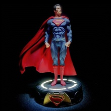 Batman v Superman Dawn of Justice The Superman Statue with LED Light PVC Figure Collectible Model Toy 23cm(China)