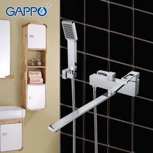 GAPPO 1set Top quality Wall-Mount bathtub sink faucet bathroom sink home mixer tap torneira with long spout in hand shower G2240