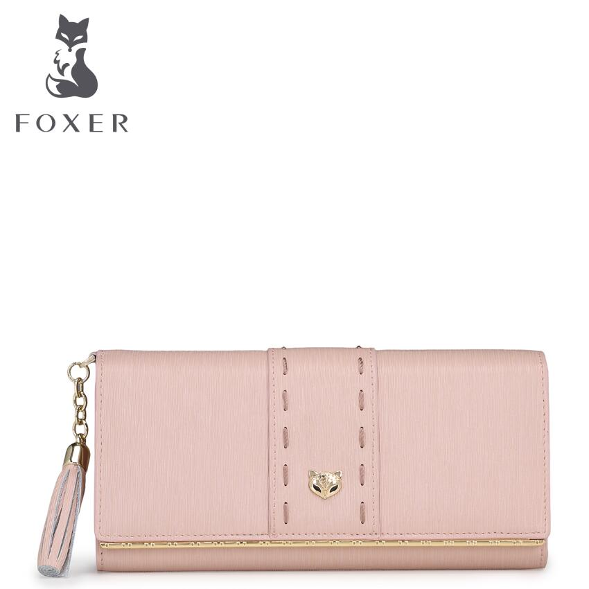 FOXER2017 new luxury fashion high-grade leather leisure long wallet wallet brand-name products 100% high-quality women well-know<br><br>Aliexpress