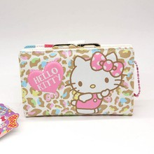 Hello Kitty Long cat women wallets Fashion Cartoon famous brand purse wallet High quality PU women bag two style canchoose