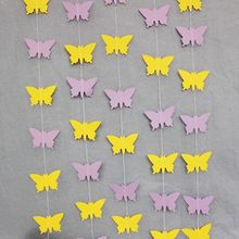 (5pieces/lot) Yellow Butterfly Paper Garland Backdrop for Pictures Garden/Outdoor Party Decorations Baby Girl Shower Garland