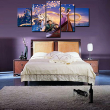 unframed 5 piece print fairy tale frozen poster oil painting on canvas wall art picture fashion home decal
