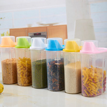 Dried Food Cereal Flour Pasta Food Storage Dispenser Rice Container Sealed Box 1.9L