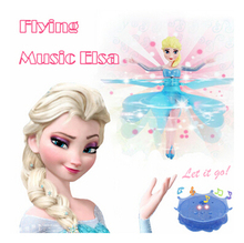 Movie Princess Anna&Elsa The Snowman Olaf Flying toys RC Aircraft Induction Helicopter Quadcopter With Music Kids Chrismas gifts