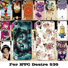 Painted Mobile Phone Skin Cases For HTC Desire 530 630 5 inch Covers Anti-Scratch Protective Bags 18 Style Plastic Durable Shell