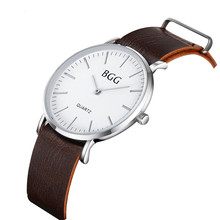 2017 Men's Ultra-thin Simple And Elegant Retro Classic Luxury Watches Leather Strap Watch Wristwatches Brand High Quality