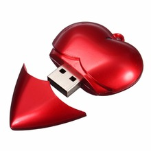 Pen drive heart shaped 4GB 8GB 16GB 32GB 64gb usb 2.0 flash drive flash memory stick pendrive