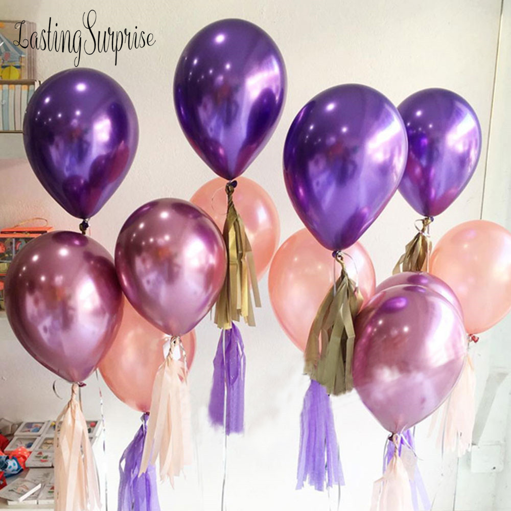 "12/"" METALLIC LATEX High Quality Pearlised BALLOONS Party Birthday Decorations"