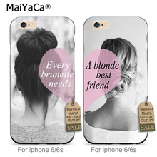 MaiYaCa Black soft TPU Cell Phone case Heart Matching BFF Best Friends Besties For iPhone 6 6s Case(China)