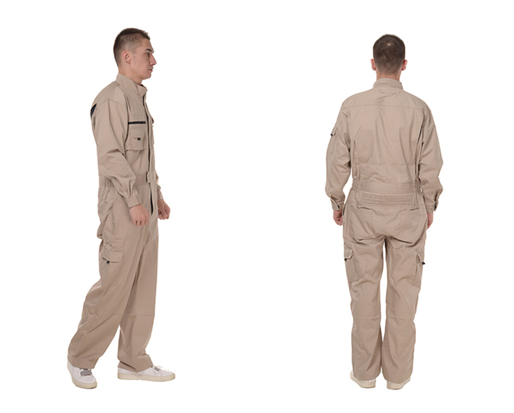 Work Overalls Long Sleeve Working Clothes Dustproof Auto repair Wear-resistant Coveralls Unisex Workwear Solid Color Uniforms (17)