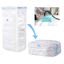 High Capacity Vacuum Bag Package Compressed Organizer for Quilts Clothes Transparent Space Saving Seal Bags Foldable Storage Bag(China)