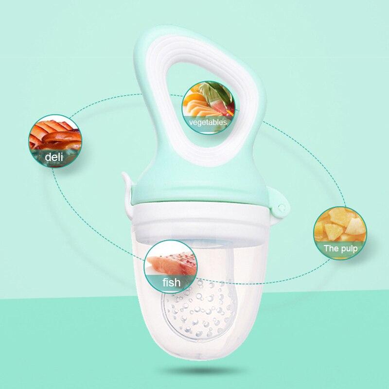Bebé Leche Fruta Alimentos Frescos Seguro No Tóxico Silicona Pezón Chupete de alimentación dientes
