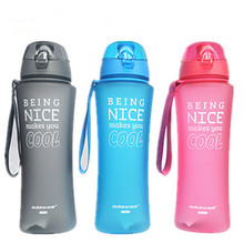650ml Bounce Cover Sports Water Bottle Food Grade Plastic Cycling Outdoor Travel Camping Drinkware My Water Bottles Shaker(China)