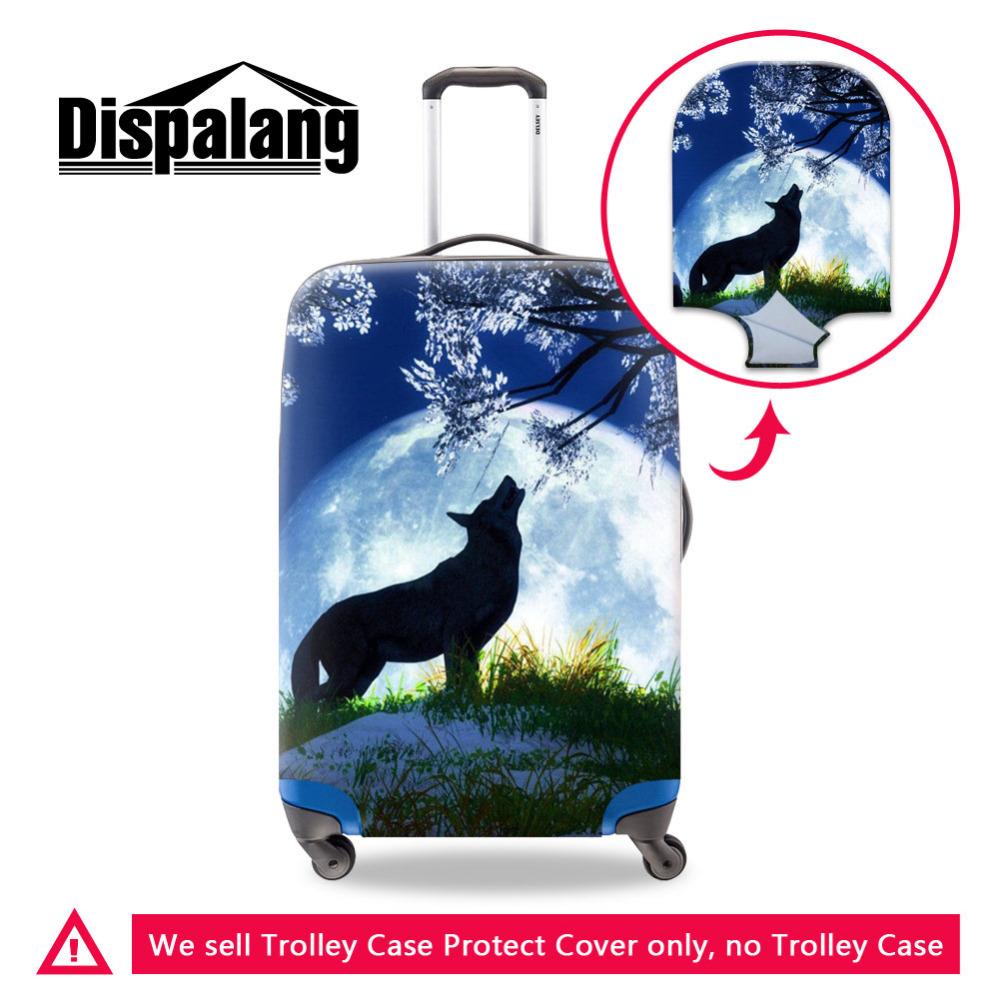 Wolf animal print luggage protective covers (11)