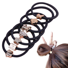10Pcs Cute Girl Lovely Bead Rubber Elastic Hair Band Rope Ponytail Holder Hair Accessories For Women Hairband Randomly