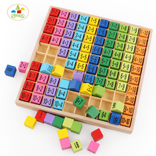 YLB Montessori Educational Wooden Toys for Children Baby Toys 99 Multiplication Table Math Arithmetic Teaching Aids for Kids(China)