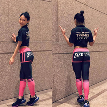 2017 Black VS Pink Fuschia Fuxia Riding sports Pants tight hips fitness body bottom Yoga pants Activewear gear for women clothes(China)