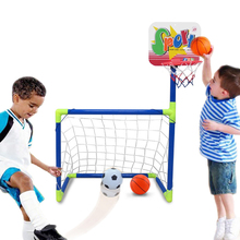 2 in 1 Removable assembly football Children Soccer Goal Indoor and outdoor toy Educational Fitness Toys Basketball Bracket Combo