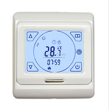 E91.716 16A touch screen underfloor heating thermostat for good quality with floor sensor 3M temperature control system(China)