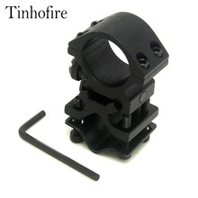 Tinhofire 1inch 25.4mm Ring and 20mm Rail Action Tactical Flashlight Laser Torch Surefire Barrel Streamlight Bracket Mount