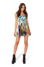 Blackmilk Fashion Starry Sky Pleated One-piece Bird Of Paradise Number Printing 100% Dress Price At Factory Directly Group