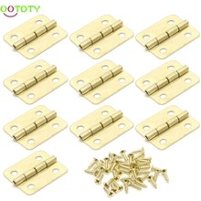 10x Kitchen Cabinet Door 4 Holes Drawer Hinges Jewelry Box Furniture 18x16mm 828 Promotion(China)