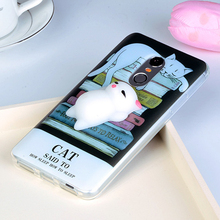 Anti Stress Squishy 3D Phone Case For Huawei P10 Lite Case Cute Cat Claw Kitty For Huawei P10 P 10 Case Pressure Soft Back Cover