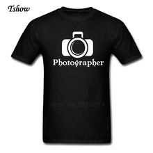 Photographer Men Tshirt Leisure Summer Print Round Neck Short Sleeve man's Costume 100% Cotton Funny Picture Tee Shirt Boys Tee(China)