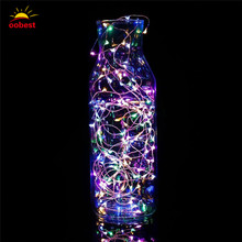 Oobest 3M 20 LEDs 9 Colors String Copper Wire Small Fairy Lights Battery Powered Waterproof Christmas Party Decoration Lights
