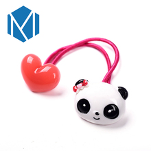 M MISM Girls Lovely Character Elastic Hair Bands Women Cute Animals Rubber Bands Accessories For Hair Kids Scrunchy Gum for Hair(China)