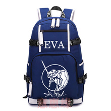 Hot Anime Neon Genesis Evangelion Backpack Cosplay EVA Canvas Bag Schoolbag Travel Bags(China)