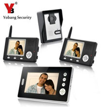 YobangSecurity Wireless Video Door Phone Doorbell Intercom Video Entry Intercom System with Triple Receivers-3 Wireless Receiver