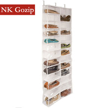 NK Gozip Foldable Door Hanging Shoes Storage Bag 26 Pockets Multi-purpose Shoes Organizer Transparent Hanging Closet 13 Layers