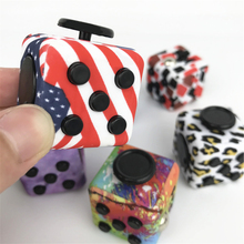 American Mini Fidget cube Squeeze Toy Anxiety and Stress reliever camouflage Cube Hand Finger Desk Toys Magic Cube Toys #E