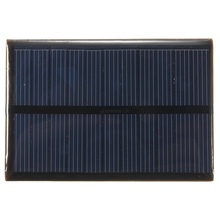 5.5V 0.66W Monocrystalline Mini Solar Cells 120mAh Silicon Solar Panel Module Battery Phone Charger DIY