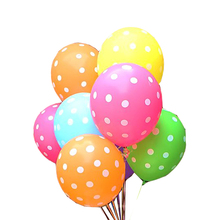 100 pcs/Lot 12 inch Latex Polka Dot Round Balloon Ball Inflatable 12'' Latex Balloons For Wedding Birthday Party Decorations