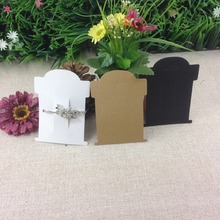 Wholesale  Hot 2015 New Blank  Black  Hair Clip Card   Hair band Card Jewelry Display Card If Custom Logo Will Cost Extra