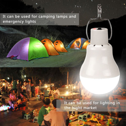 Portable Lanterns Led Solar Garden Bulb For Camping Lighting With Solar Panel and Rechargeable Bulbs Solar Tent Lighting (3)