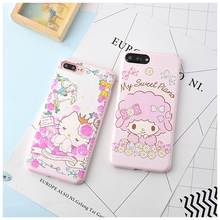 Hello Kitty Cactus Case For Coque iPhone 6 6s 6plus 7 7plus Cases Soft Funda Candy TPU Silicone Capa Back Phone Cover Capinha(China)