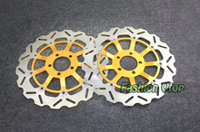 Gold Motorcycle Front Brake Disc Rotors For ZZR 1100 D1-D9 93-01 Universel