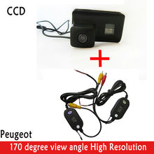 Wrieless HD CCD Rearview Camera 420 lines 170 super wide view angle camera  Color  Backup car CAMERA for Peugeot Partner Tepee