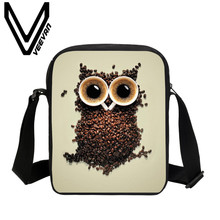 VEEVANV Brand 2017 Owl Image 3D Printing Messenger Bag Women Crossbody Bag School Student Shoulder Bag Casual Men Messenger Bags