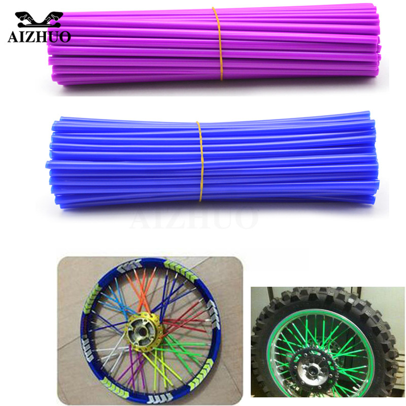 Motorcycle Wheel Spoke Rim Stents Skins Cover Wrap Tube Decorated For YAMAHA YZ 125/250/426F/450F 2001-2007, YZ 250F