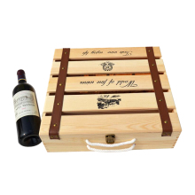 Manufacturers wholesale custom wood wine box mounted six wooden wine box wine gift box wine JH003