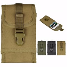 "For Multi Phone Model Hook Loop Belt Pouch Bag MOLLE Tactical Smartphone Pouch Holster for 4.7"" iPhone 6S /6 Plus 5.5"""