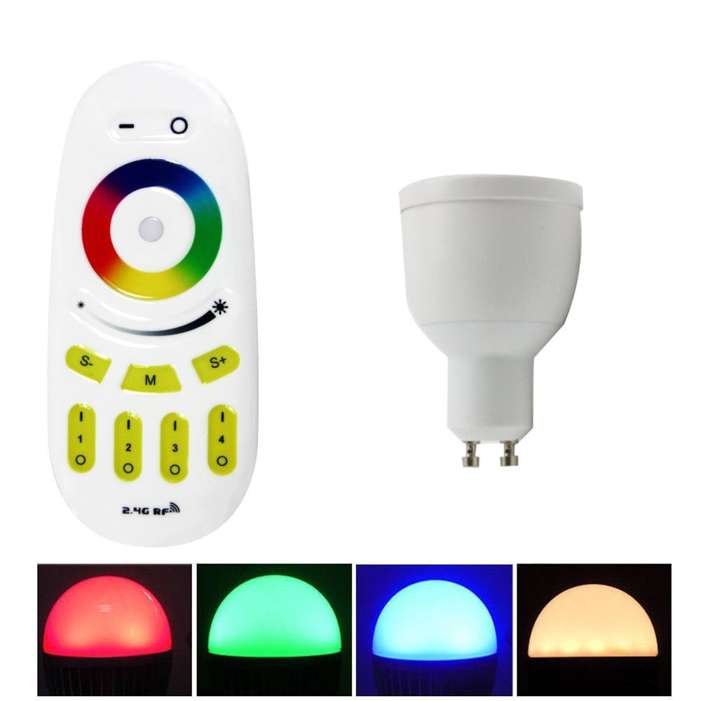 2015 new 4W  GU10  LED RGBW/WW Milight bulb  AC85-265V  &amp; 1 touch remote controler  16 millions colors changing led lighting<br><br>Aliexpress