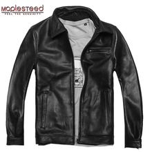Factory Men Leather Jackets Real Genuine Cowhide Brand Plus size Man's Motorcycle Biker Coat Winter Overcoat Polo Jaqueta ZH078(China)